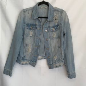 Refuge distressed denim jean jacket